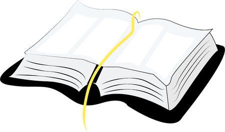 Accent een bijbel cover van het boek met een open Bijbel. Stock Illustratie