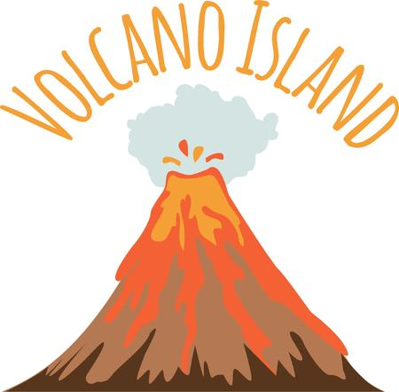 sentiment: A volcano is perfect for an overflowing sentiment. Illustration
