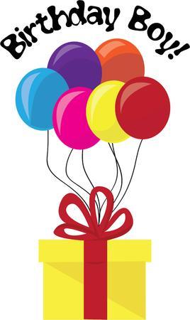 Decora una festa di compleanno con regali e palloncini. Archivio Fotografico - 44805083
