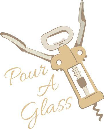 corkscrew: Bar wear will look nice with a corkscrew.