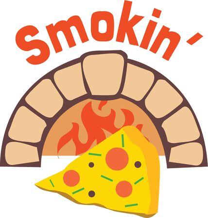 Make an apron for a pizza chef. Иллюстрация