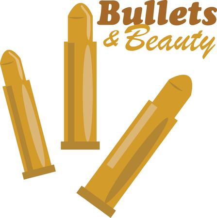 ammo: Get protection with style with these gold bullets. Illustration