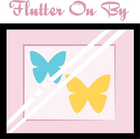 Beautiful butterflies area wonderful accent on your projects.