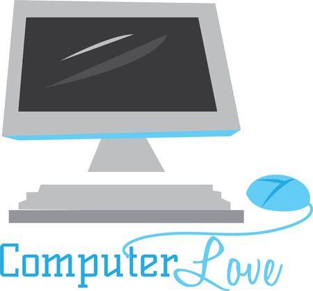 あなたのオフィスの装飾にコンピューターを置きます。