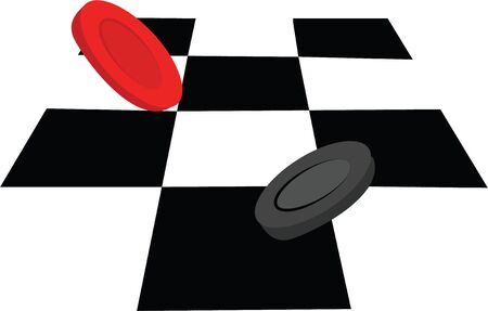checkers: Game night will be more fun with a game of checkers. Illustration