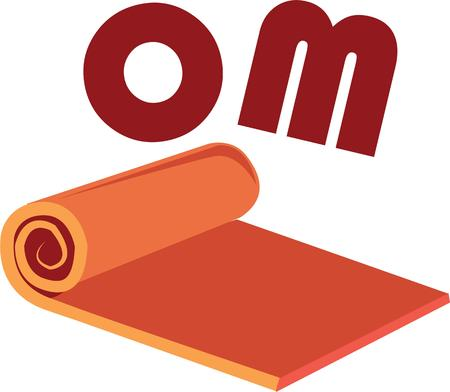 mat: Accent yoga wear with a cool mat.