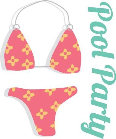 Accent a beach towel with a cute bikini.