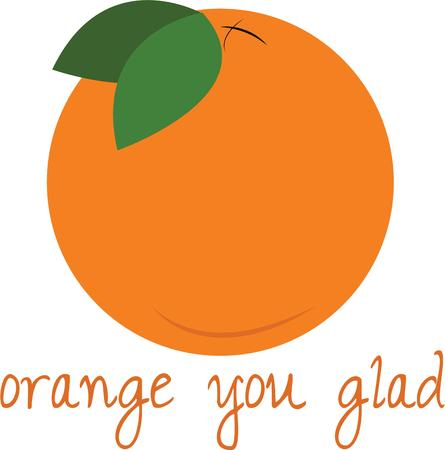 Have a delicious orange in your kitchen.