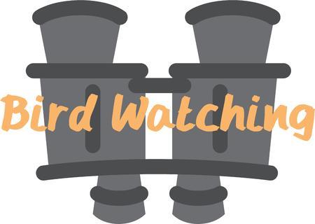 Bird watching will be fun with these binoculars.
