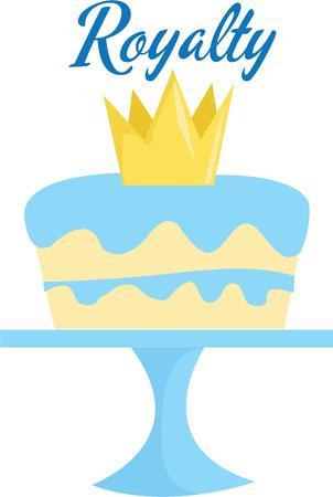 特別な誕生日のロイヤル ケーキを作る。