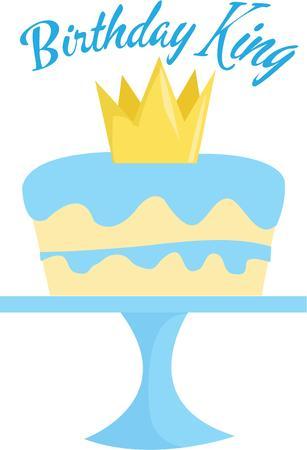 Make a royal cake for a special birthday. 向量圖像