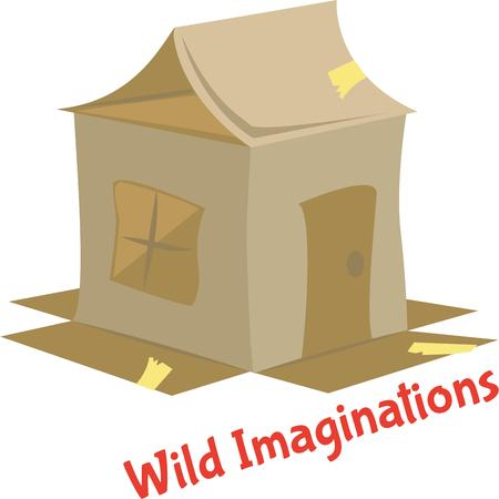 A fun playhouse will bring lots of fun to play time.