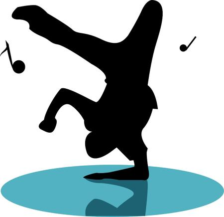 performers: Have fun with a break dancer. Illustration