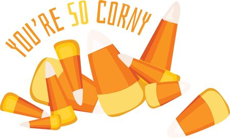 Candy corn is a wonderful fall treat decoration.