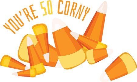Candy corn is a wonderful fall treat decoration.