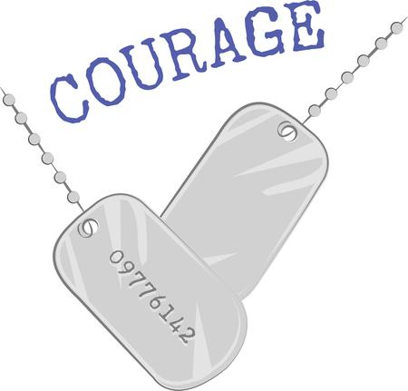 Display your pride for military service with these dog tags on a t-shirt.