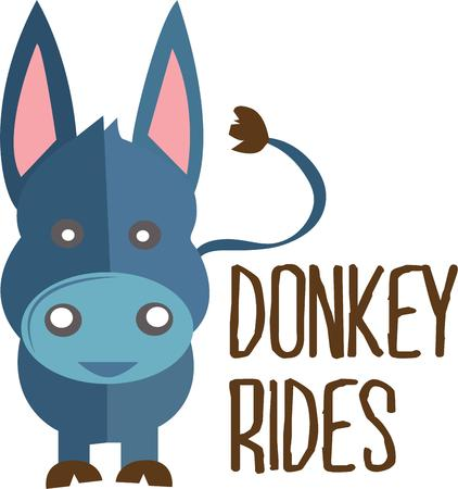 filly: A donkey is a great decoration for a party. Illustration