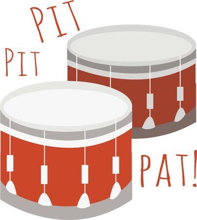 드럼은 행진하는 밴드의 필수 부분입니다.