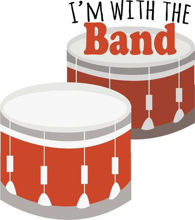 marching band: Drums are a necessary part of a marching band.