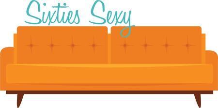 retro furniture: Decorate your home with some retro furniture. Illustration