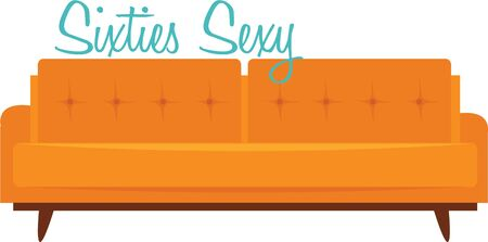 Decorate your home with some retro furniture. Illustration