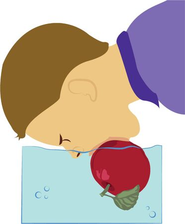 Have some carnival fun with a bobbing for apples game. Ilustração