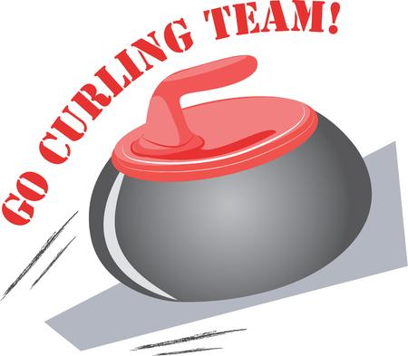 Fans of the sport of curling will love this rock on a t-shirt.