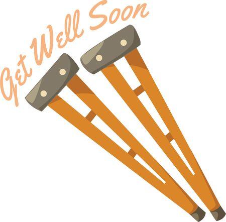 crutches: Decorate a walker with some cute crutches.