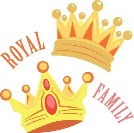 Add crowns to your belongings to feel royal. 向量圖像