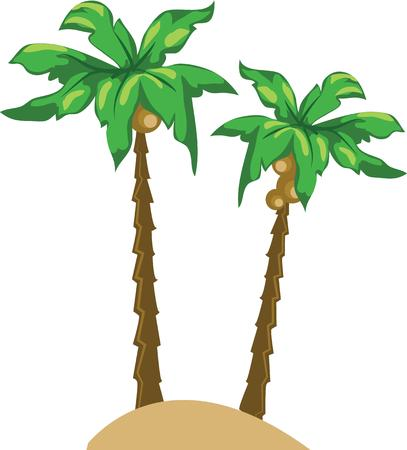 Palm trees are a great decoration for a beach tote.