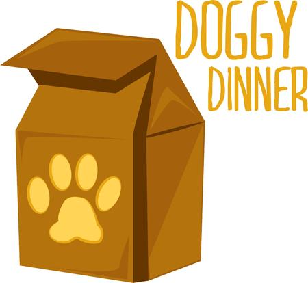 doggie: Decorate your pets supplies with a doggie bag.