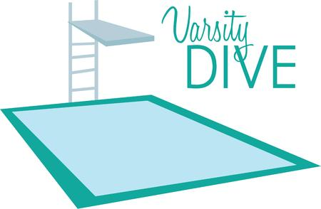 dive: Have a good time at the pool with this dive board on a beach towel.