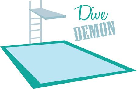 springboard: Have a good time at the pool with this dive board on a beach towel.