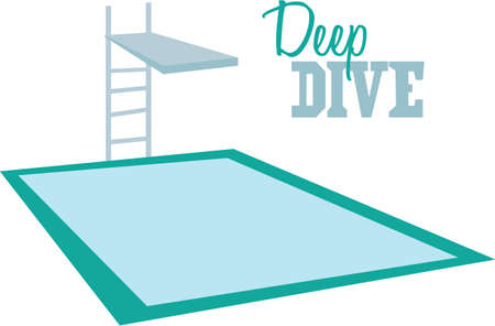 Have a good time at the pool with this dive board on a beach towel.