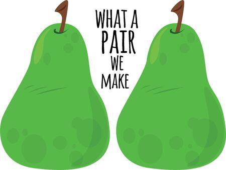 Delicious pears will make a good kitchen decor. Ilustração