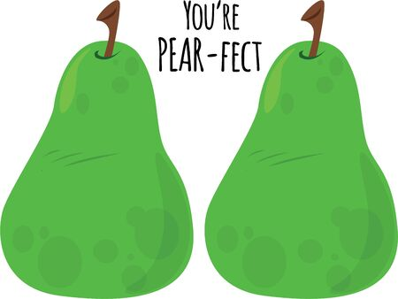 pears: Delicious pears will make a good kitchen decor. Illustration