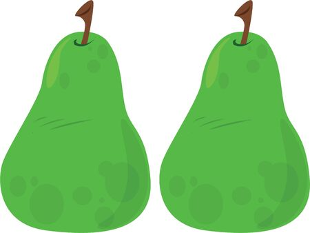 Delicious pears will make a good kitchen decor. Иллюстрация