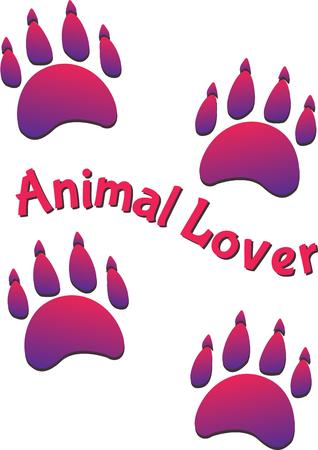 animal lover: This is the perfect design for an animal lover.