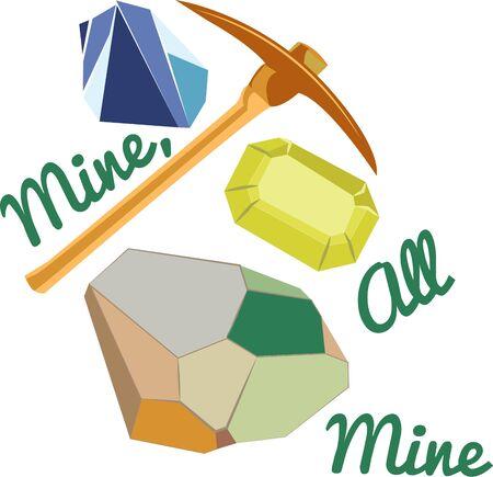 宝石の採掘は、t シャツのデザインの取得活動です。