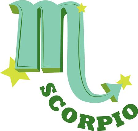 Display your zodiac symbol of Scorpio.