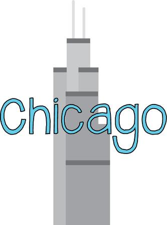 sears: A skyline of Chicago is a great symbol of the city.