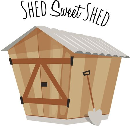 Make an apron for your gardening with a cute shed.