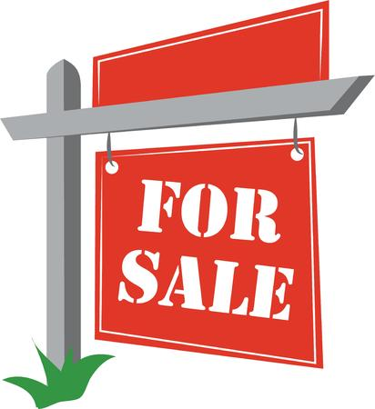 Use a sign post to advertise your property.