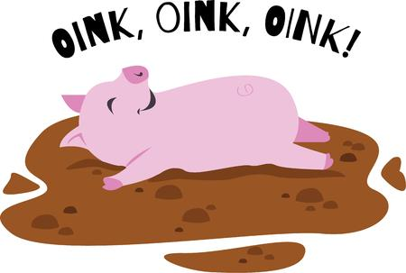 oink: A playful pig is a great design for a play outfit.