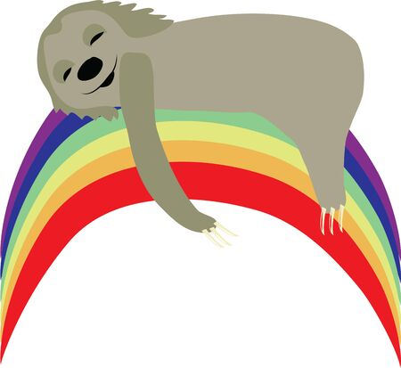 oso perezoso: Enviar dulces sue�os sobre una manta con esta pereza sue�o. Vectores
