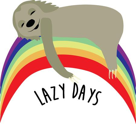 Send sweet dreams on a blanket with this sleepy sloth.