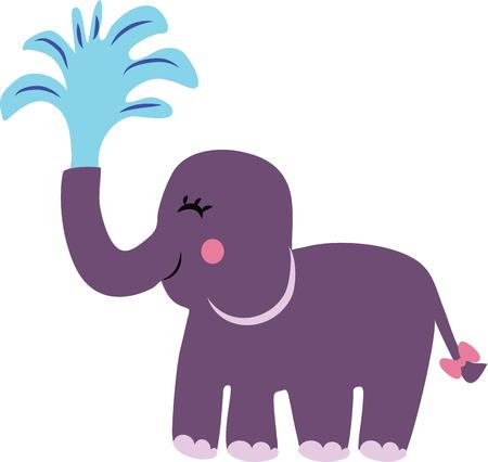An adorable elephant is a great accent for a nursery.
