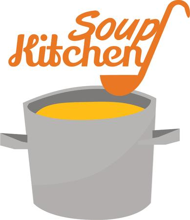 Delicious soup is perfect in your kitchen on a cold day. Ilustrace