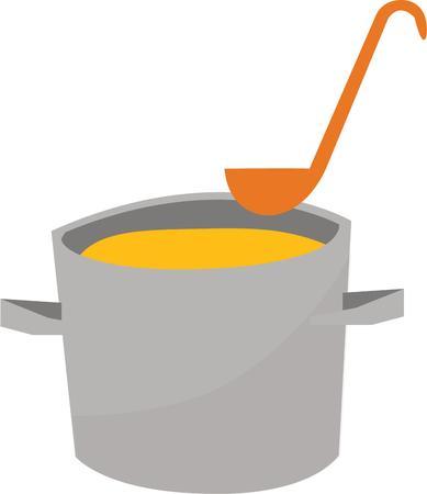 맛있는 수프 추운 날에 당신의 부엌에 적합합니다.