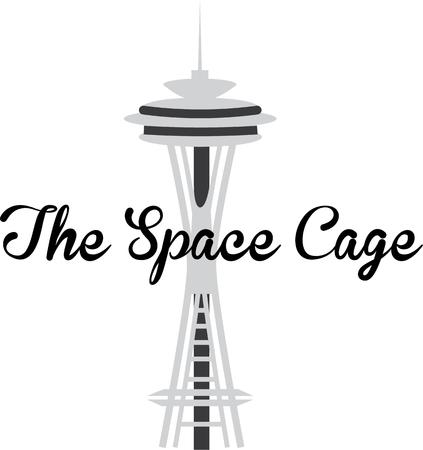 space needle: Display your love for the city of Seattle with the space needle.